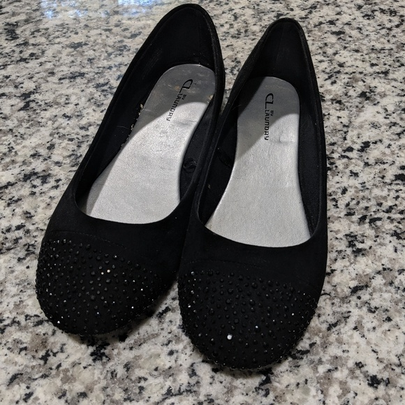 CL by Laundry Shoes | Black Rhinestone